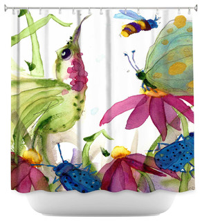 DiaNoche Designs Shower Curtain By Dawn Derman Calliope