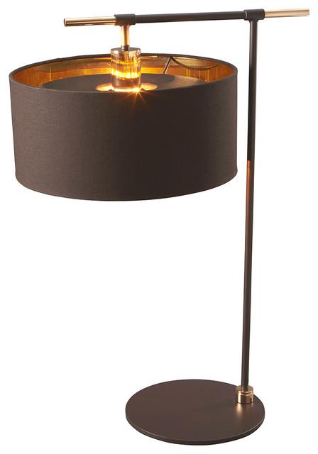 Balance Modern Table Lamp, Brown