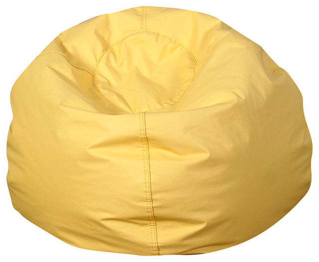 Children S Factory Large Bean Bag Chair Yellow View