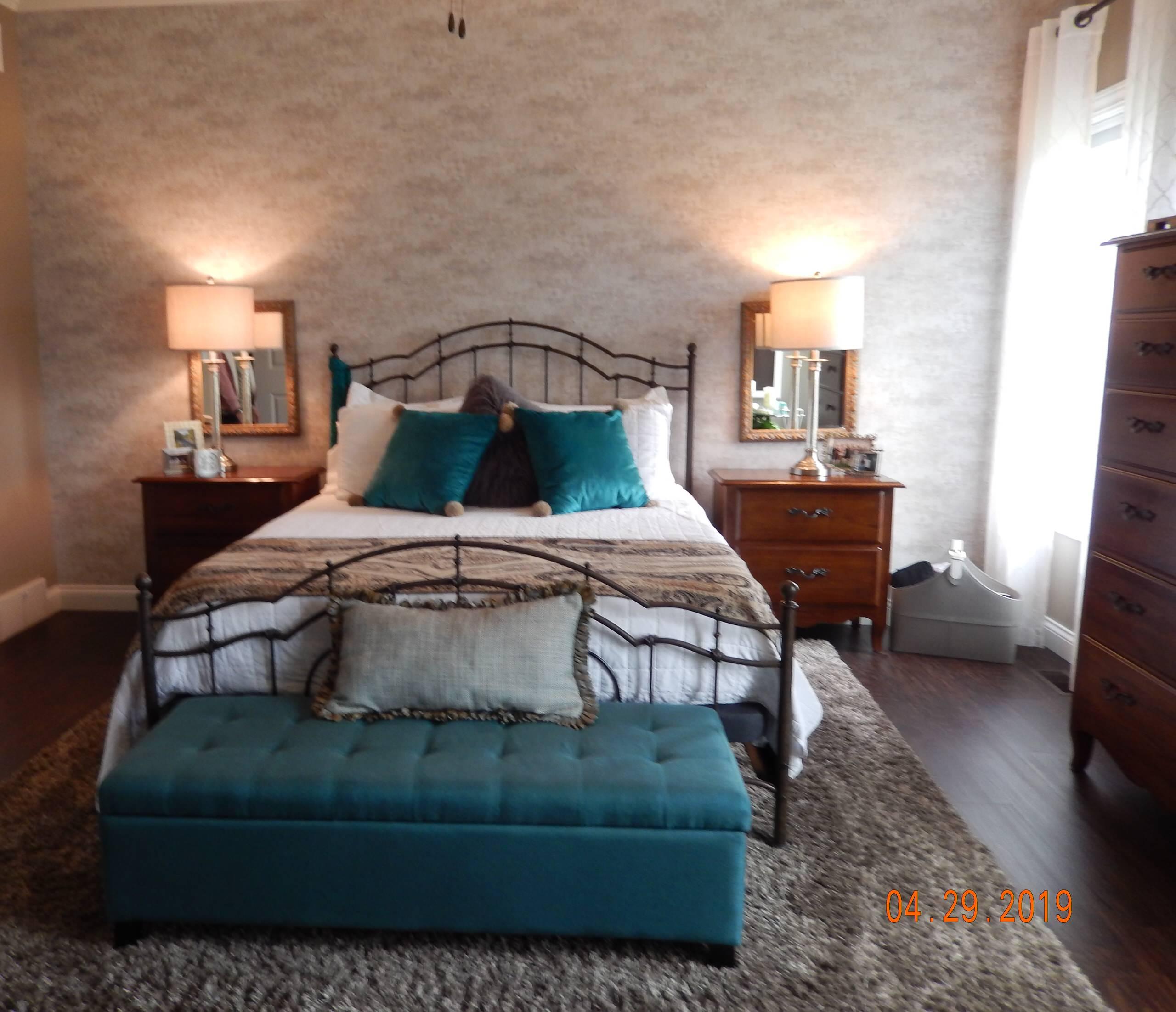 Contemporary Craftsman Master Bedroom