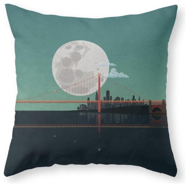 Decorative Pillows San Francisco : Society6 SAN FRANCISCO Throw Pillow - Decorative Pillows Houzz