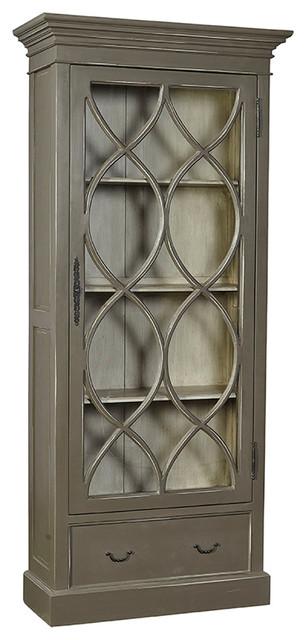 Anubis Latticed Mahogany Cabinet.