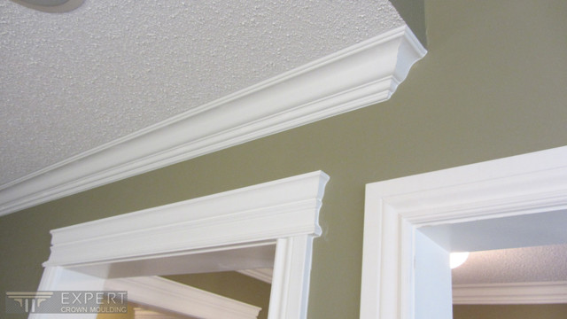 Trim upgrade and crown moulding installation in Ajax traditional. Trim upgrade and crown moulding installation in Ajax   Traditional