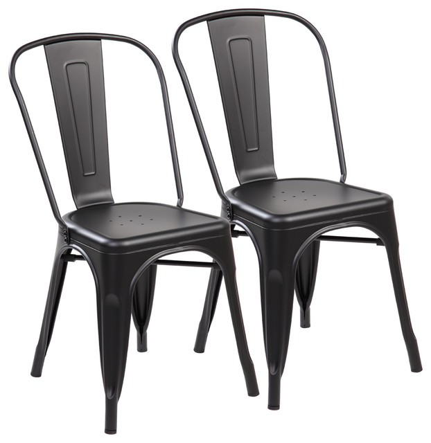 Set Of 2 Metal Stackable Chairs