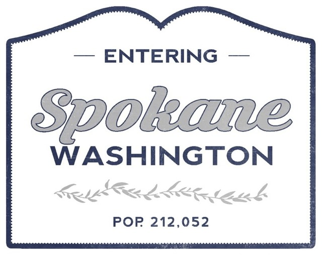 Quot Spokane Washington Now Entering Blue Quot Print