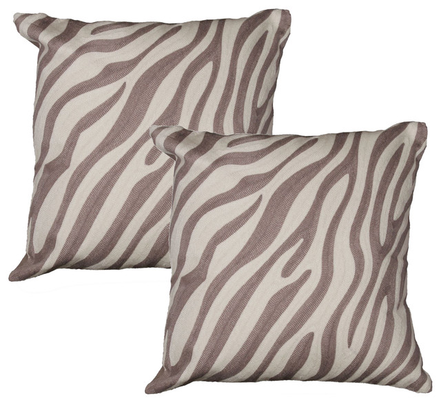 Decorative Zebra Pillows : Banyan Designs - Zebra Pillow, Set of 2 - View in Your Room! Houzz
