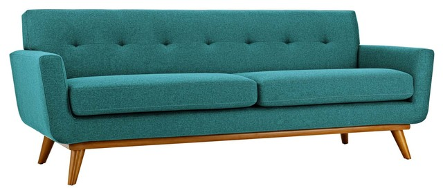 Engage Upholstered Sofa, Teal.