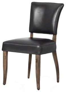 Fabulous Mimi Saddle Black Leather Dining Chair Machost Co Dining Chair Design Ideas Machostcouk
