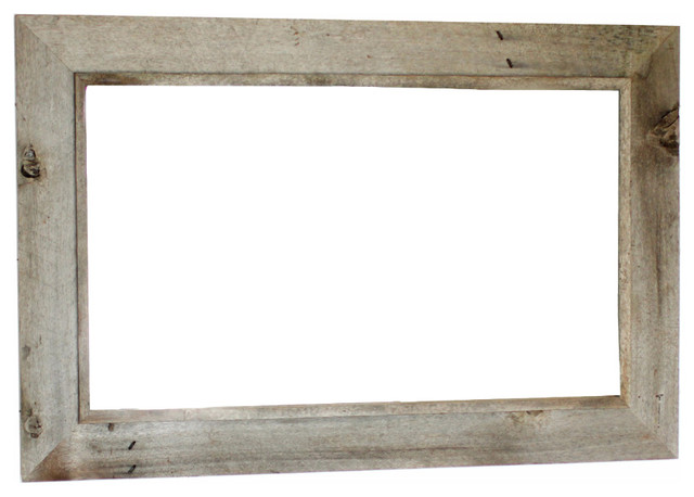 western rustic mirror reclaimed barn wood frame 18x22 rustic wall