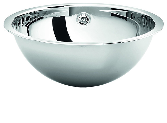 Lb Steel Recessed Top Mount Sink Bowl With Overflow.