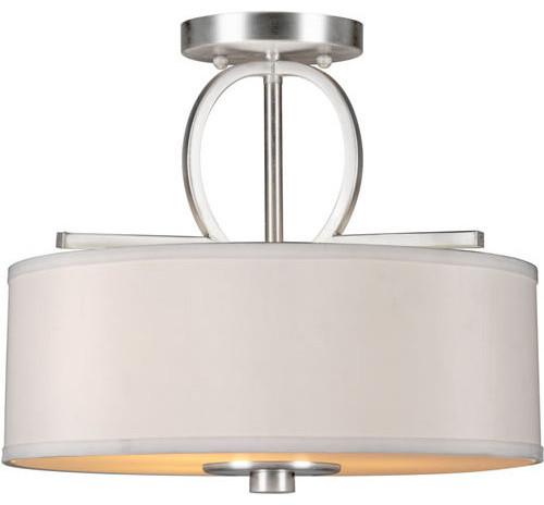 Forte Lighting 2562-03 3 Light Semi Flush Ceiling Fixture.