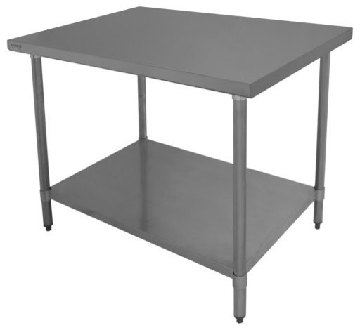 24 quot depth economy stainless steel work table modern economy kitchen cart catskill deluxe cuisine cart
