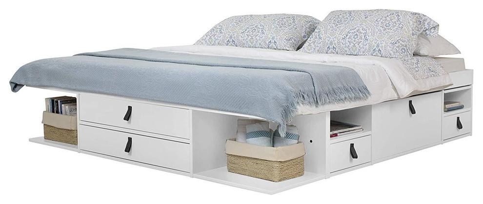 Memomad Bali Storage Platform Bed, Queen Murphy Storage Platform Bed With Mattress