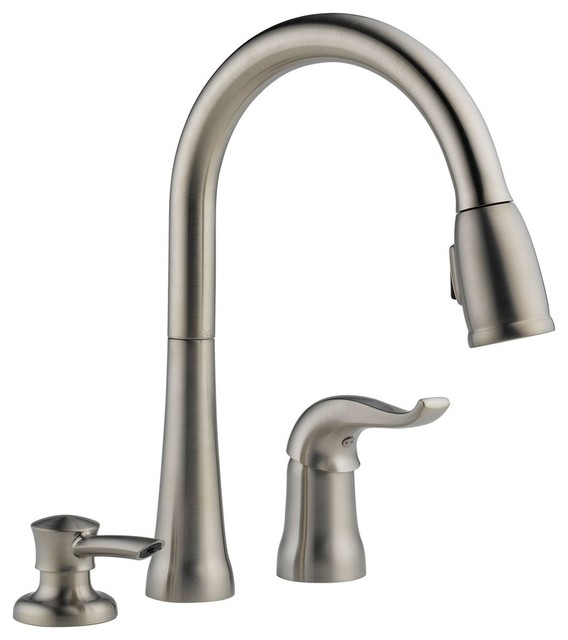 Delta 16970-Sd-Dst Kate Pullout Spray Kitchen Faucet, Brilliance Stainless.