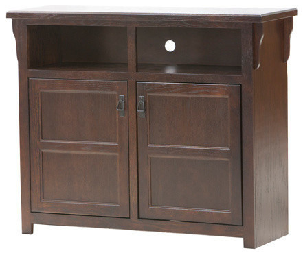 Eagle Furniture Tall Mission 45 Wide Tv Console Chocolate Mousse