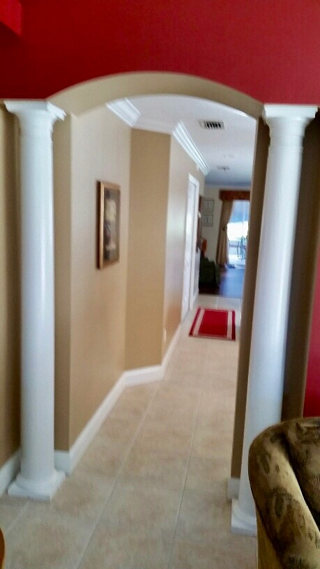 Elegant Remove Columns From Arched Walk Through