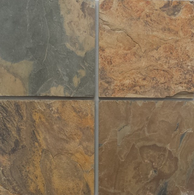 California Gold Slate Tiles Natural Cleft Face Gauged Back Finish Sample