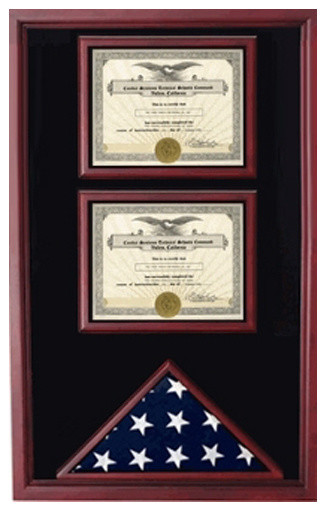 2 Certificates Flag Display case - Industrial - Home Office ...