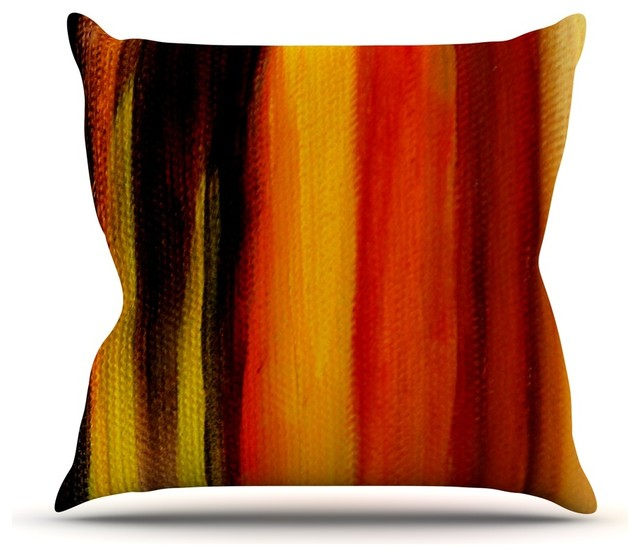 Theresa Giolzetti Firework Yellow Orange Throw Pillow