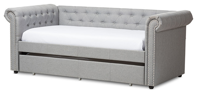 Coca Daybed With Trundle, Gray.