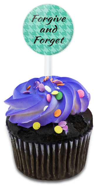 Forgive And Forget Cupcake Toppers Picks Set.