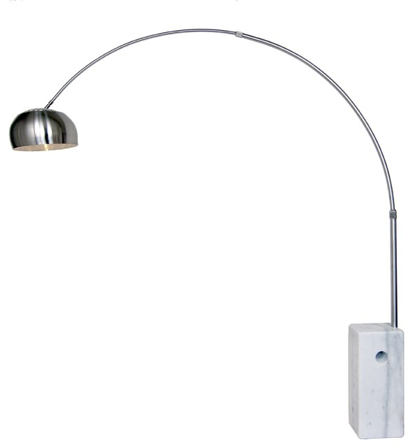 Stilnovo Arch Lamp With Marble Base Contemporary Floor