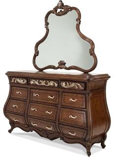 Aico Michael Amini Platine De Royale Light Espresso Dresser With Mirror