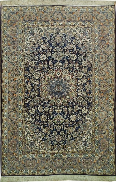 Traditional Rug, Navy Blue, 5'x8