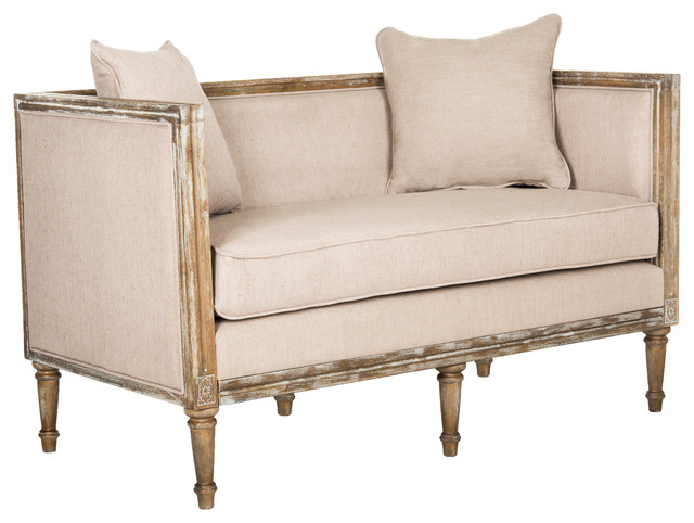 Leandra Rustic French Country Settee Loveseats By Safavieh