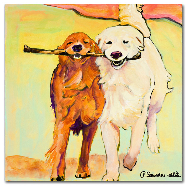 &x27;stick With Me&x27; Canvas Art By Pat Saunders-White. -1