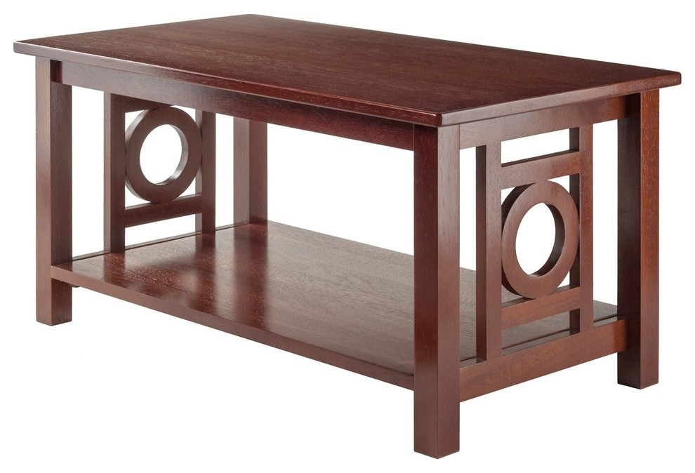 Ollie Coffee Table Walnut Transitional Coffee Tables By Gwg Outlet