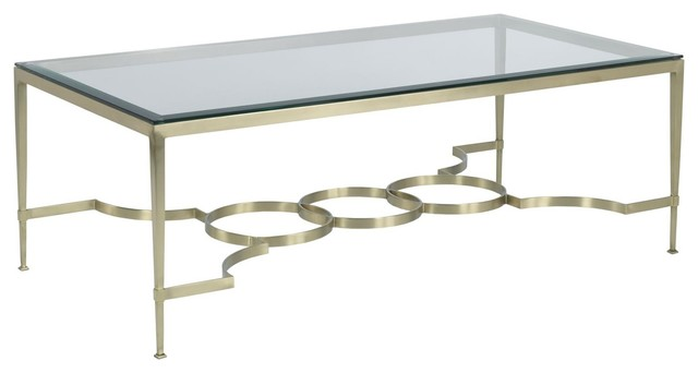 Woodbridge Kitchen Bath Woodbridge Reproduction Cocktail Table Satin Brass Coffee Tables