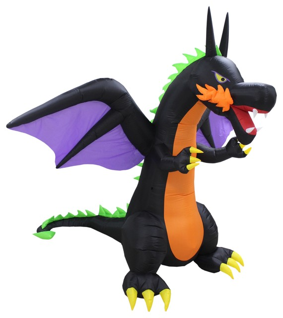 Bzb Goods Halloween Inflatable Fire Dragon With Wings 8