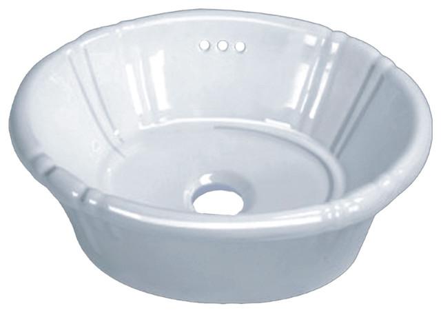 Vanity Tulip Decorative Porcelain Oval Drop In Sink White