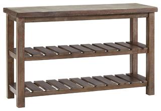 Vennilux Sofa Table, Grayish Brown