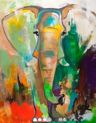 """Elephant Dream"" Contemporary Large Artwork"