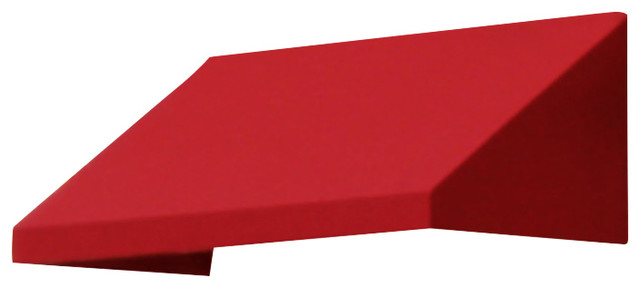 "4&x27; New Yorker Window Awning, 44"" Hx36"" D, Red."