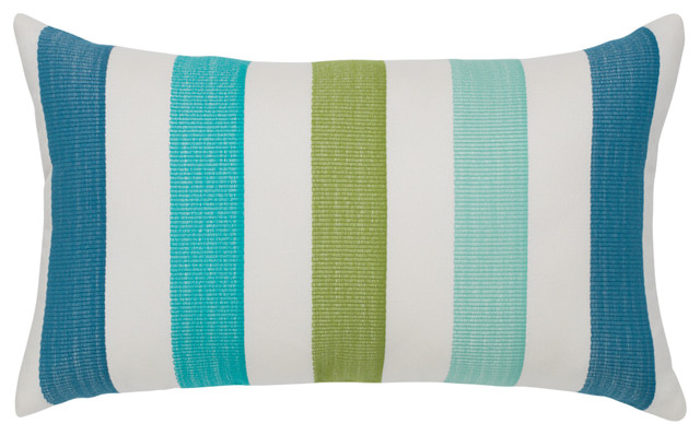 Elaine Smith Rhodes Stripe Lumbar Pillow - Contemporary - Outdoor Cushions And Pillows - by ...