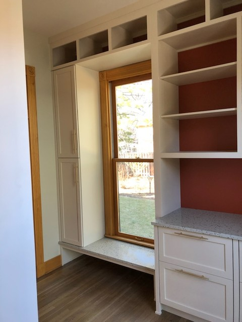 Example of a trendy home design design in Indianapolis