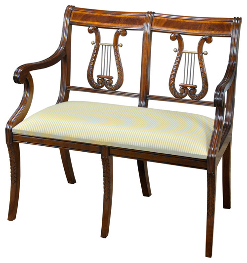 Lyre Two Seat Chair With Satin Banding
