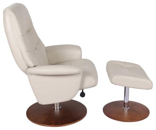 Beau Valencia Swivel Recliner Chair U0026 Ottoman, Taupe