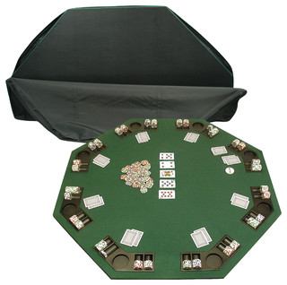 Poker And Blackjack Table With Case   Traditional   Game Tables   By  Trademark Global