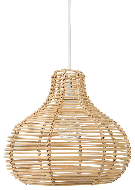 Continuous Weave Horizon Wicker Lamp