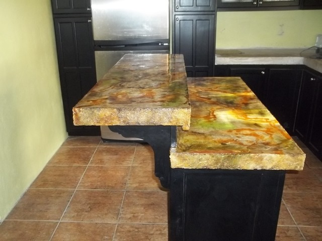 Acid Stain Concrete Counter Top