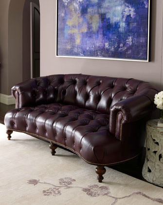 Old Hickory Tannery Pressley Leather Sofa traditional sofas