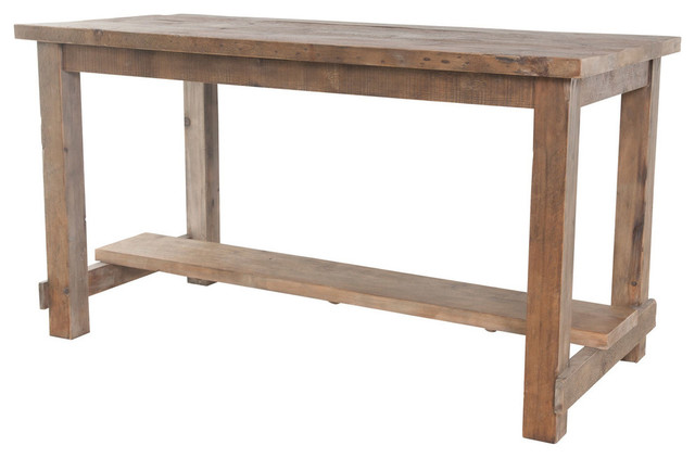 Bleaced Pine Rectangular Reclaimed Wood Pub Table