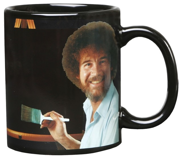 Bob Ross Heat Changing Mug - Ceramic 11 oz - See Painting Color with Hot Liquid