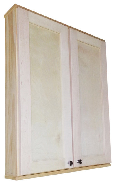 "37.25"" Danville Series Double Door On-The-Wall Cabinet 7.25"" Deep Inside."