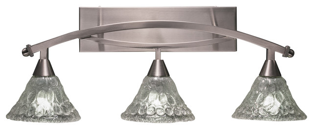 Capital Lighting 4 Light Vanity Fixture Brushed Nickel: Bow 3 Light Bath Bar