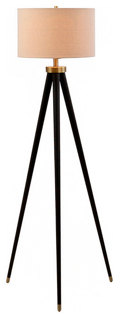 Christina 3-Way Bronze And Brass Tripod Floor Lamp, Bulb Included